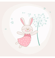 baby shower or arrival card - bunny