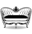 baroque sofa french luxury rich intricate vector image