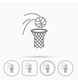 Basketball icon Basket with ball sign vector image vector image