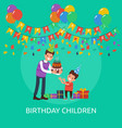 birthday children conceptual design vector image
