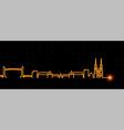 bordeaux light streak skyline profile vector image