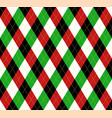 christmas new year argyle pattern scottish cage vector image