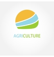Circle agricultural logo vector image vector image