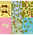 Cocoa Patterns vector image vector image