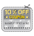 Coupon sale -ten percent discount vector | Price: 1 Credit (USD $1)