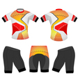 Cycling vest polygons style vector image vector image