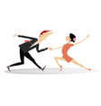 dancing young couple vector image vector image
