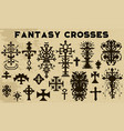 design set with fantasy crosses 7 vector image vector image