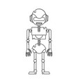 dotted shape technology robot with robotic body vector image