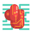 electronic android heart internal organ part of vector image