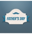 Fathers Day paper Card with greeting Ribbon vector image