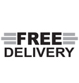 Free delivery Text vector image vector image