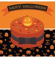 halloween cake vector image
