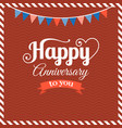happy anniversary flat design vector image
