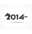 Happy New Year 2014 card vector image vector image