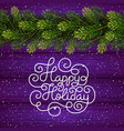 holiday gift card with hand lettering happy vector image vector image