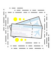 icon two air tickets symbol of travel vector image vector image