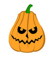 isolated halloween jack-o-lantern vector image