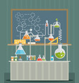 laboratory conceptual vector image vector image