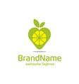 lemon pin logo concept vector image vector image