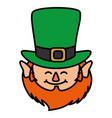 leprechaun avatar character icon vector image
