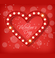 love heart in lights realistic special vector image vector image