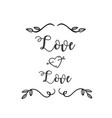 love love heart arrow grass white background vector image