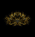 luxury gold frame with beadscurls and gold cross vector image vector image
