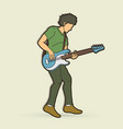 musician playing bass vector image vector image