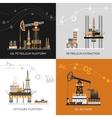 Oil Petroleum Platform Set vector image