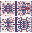 pattern cross stitch set scandinavian patterns vector image