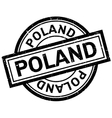 Poland rubber stamp vector image vector image