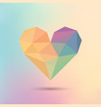 polygon colorful heart icon on colorful vector image vector image