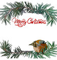 postcard merry christmas vector image