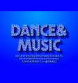 premium poster dance musicblue lamp font vector image vector image