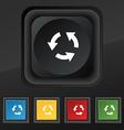 Refresh icon symbol Set of five colorful stylish vector image