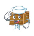 sailor crate character cartoon style vector image vector image