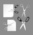 scissors cut paper scissors isolated on white vector image vector image