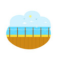 seascape from wooden pier sea view isolated vector image vector image