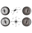 set compass vector image vector image