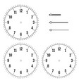 set of round clock faces design for men blank vector image vector image