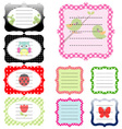 Set of vintage cute frame vector image