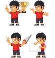 Soccer Boy Customizable Mascot 4 vector image vector image