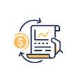 stock exchange - modern line design icon vector image