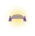 Sydney Harbour Bridge icon comics style vector image vector image
