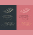 tape cassettes set vector image