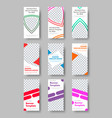 templates for vertical white web banners with vector image vector image