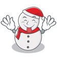 tongue out snowman character cartoon style vector image vector image