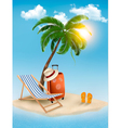 Travel background with tropical island Summer vector image vector image