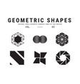 universal geometric shapes set vector image
